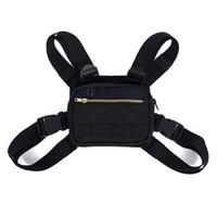 Wholesale mini outdoor climbing bag for sale - Group buy Mini Men Chest Rig Streetwear Outdoor Sports Waist Bag Climbing Shoulder Bag Phone Money Belt Chest