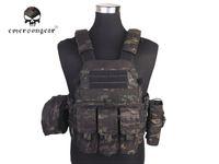 chaleco negro airsoft al por mayor-Emersongear LBT6094A Chaleco táctico estilo con 3 bolsas Caza Airsoft Military Combat Gear Multicam Negro EM7440MCBK # 256155