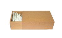 hediyeler için büyük kutular toptan satış-18 * 10 * 6 cm Büyük kahverengi kraft çekmece kutuları, düz kahverengi kraft hediye paketleme karton kutular