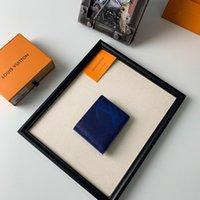 monedero de tarjeta de visita de marca al por mayor-Cartera corta de negocios para hombre de cuero caliente Titular de la tarjeta monedero MT Estuche de tarjeta de caja de regalo de lujo portefeuille monedero de marca de moda clásica de alta calidad