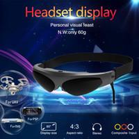 ray dvd player оптовых-VR 3D очки виртуальной реальности AV Head-Mounted Display FPV смарт - видео очки для Blu-ray DVD-плеер дроны MP5 PS3 XBOX TV