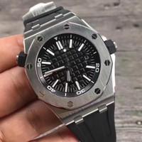 relógios automáticos suíços de qualidade venda por atacado-3A + de alta qualidade espelho relógio de luxo de safira suíços 2824eta3120 movimento automático máquinas a forma dos homens de mergulho relógio de 30 metros à prova d'água