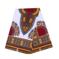 telas con estampado java al por mayor-Impresiones de cera africana patrón Ankara tela para vestidos 100% tela de algodón java real impresión de cera Nigeria Ankara 6yard / lot 24FJ2003