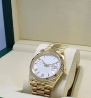 Wholesale roman dress styles for sale - Group buy Mens Limited Edition Day Date mm K Yellow Gold White Roman Dial Watch NEW Mens Sport Original box Dress Styles Watches