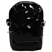 ingrosso zaino nero chiaro-Libero trasparente in PVC zaino Exquisite donne sacchetto della gelatina trasparente di cristallo Bookbag Borsa da spiaggia portatile (nero)