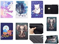Wholesale ipad owl case for sale – best 25 designs butterfly Elephant panda cat owl tree Filp Stand wallet leather case for ipad pro mini air