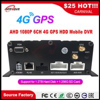 Wholesale dvr audio resale online - HD Audio and video channel SD card hard disk remote monitoring host G GPS Mobile DVR truck taxi bus school bus MDVR car dvr