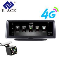 автомобильный удаленный dvr оптовых-E-ACE 4G Android автомобильный видеорегистратор 8-дюймовый FHD 1080P авто камера видеомагнитофон двойной объектив видеорегистраторы GPS навигация ADAS удаленный монитор тире кулачок