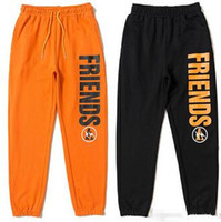 tasarım joggers sweatpants toptan satış-Arkadaşlar Parça Pantolon Joggers Sweatpants Pantolon Erkek Kadın Spor Parkour Harajuku Tulum Hip Hop Pamuk Gevşek Rahat Parçası Tasarımı