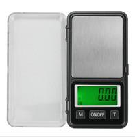 dijital oz skalası toptan satış-500g / 0.1g Cep Ölçeği Elektrikli Dijital Ölçeği Takı Altın gıda Denge Ağırlığı Mini LCD Dijital Ölçek g / oz / ct / tl
