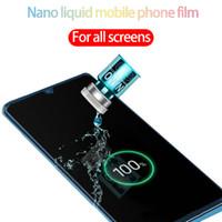 protetor de tela iphone impermeável venda por atacado-protetor de tela para iphone 11 Nano líquido protector filme temperado vidro protetor de tela anti-impressão digital à prova d'água para todos tela