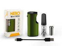 мини-электронные пульверизаторы оптовых-Фабрика китая Nero Mini Box Kit 650mAh Электронные сигареты с C Распылителем C Контроль температуры Vape картриджи Электронные сигареты