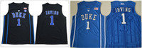 ingrosso uniformi sportivi d'epoca-Mens 2020 Duke Blue Devils # 1 Irving Ja 12 Morant James Harden 13 Vintage American College Basketball cucita Camicia uniforme Jersey Sports