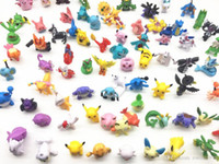 Wholesale mini pocket iron for sale - Group buy Figures toy mini random Pikachu Pearl Squirtle toys cm pocket monster Drop Shipping chaos black gifts kids