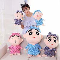 ingrosso bambola presente regalo-35cm Super cute peluche grande bambola 35cm Shinchan Stuffed Animals doll Miglior regalo di compleanno per bambini Regalo di coppia all'ingrosso