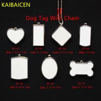 Metal Dogs Tag pendant for Blank Sublimation INk Transfer Printing Heat Press DIY Both Sides Can Print With Chain