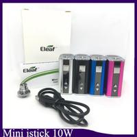 ego mod batarya toptan satış-Mini istick 10 w pil basit kiti Dahili 1050 mah Pil Değişken Gerilim Vape Mod USB Kablosu ile 510 eGo Bağlayıcı OLED Ekran kutusu