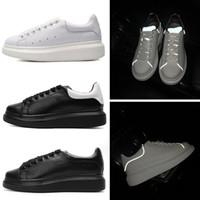 Wholesale genuine leather women shoes drop shipping for sale - Designer M Reflective Platform Casual Shoes Men Women Triple White Black Flats Party Shoes Sports Sneakers Drop Shipping