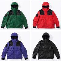 ingrosso rivestimento antivento impermeabile all'aperto-18FW Box Logo PU in pelle Parka giacca antivento impermeabile giacca esterna cappotto moda Street Capispalla S-XL HFYMJK152