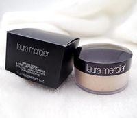 ingrosso scatole minerali-Drop shipping! New Black box nude mineral laura mercier concealer cipria in polvere sciolto 3 colori 29g Face Powder