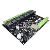 controladores ip venda por atacado-8 way relay rede IP / Ethernet controlador de acesso TCP MODBUS 8 em 8 fora do interruptor de transmissão freeshipping