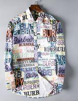 amerikanisches lässiges langes kleid großhandel-2019 amerikanische Business-Marke kariertes Hemd mit Selbstanbau, Modedesigner Marke langärmelige Baumwolle Freizeithemd gestreiftes Hemd # 9605