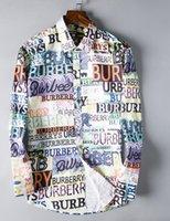 ingrosso vestiti di moda americani-Camicia di plaid di coltivazione di marca di affari del marchio americano 2019, camicia di camicia a righe a maniche lunghe in cotone a maniche lunghe di marca del progettista di moda # 9605