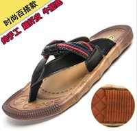zapatos vietnamitas al por mayor-Nuevas sandalias transpirables de verano para hombres Marea masculina Versión coreana de los zapatos de playa vietnamitas al aire libre Sandalias y zapatillas