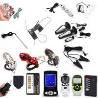 elektroschock anal vibrator großhandel-Elektroschock-Kugel-Anal Plug Pulse Vibrator Elektrostimulation Nippelklemmen Klitoris Penis Electric Medical Thema Spielzeug