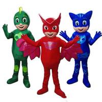 traje de peixe verde venda por atacado-2019 de alta qualidade quente PJ Mask Costume Catboy Parade HalloweenBlue Party Dress Adult