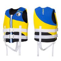 ingrosso attrezzatura da nuoto per bambini-Galleggianti per bambini Giubbotti di salvataggio Giubbotto per bambini Ragazzi Ragazze Bambini per la nautica Surfing Rafting Sicurezza Coletes Salva-vidas Swimming Equipment CO