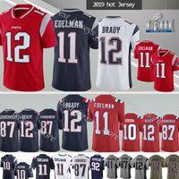 Wholesale patriot jerseys for sale - Group buy 12 Tom Brady New Englands Julian Edelman Patriot NCAA Rob Gronkowski new jersey can patch