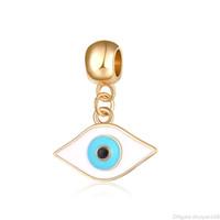 peru de jóias venda por atacado-Turquia Olhos maus Charms Pingente DIY moda vintage Acessórios charme jóias Beads Fit para Bracelet Bangle atacado