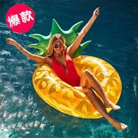 Wholesale men beds for sale - Water Swim Floating Bed Pineapple Floatings Row Women Men Outdoor Motion Supplies Larger The New Green Leaf dy C1
