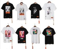 homens hiphop camisetas venda por atacado-2019ss Estilo Verão Garça Preston Doves Impresso Mulheres Homens T camisas tees Hiphop Streetwear Homens Algodão de Manga Curta T-shirt S-XL