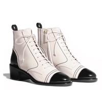 schwarze lackleder-schneeschuhe groihandel-Designer Schuhe Damen Ankle Boot Schwarz Kalbsleder Schnürschuhe Patent Martin Ankle Boots Ankle Booties Winter Schneeschuhe US10