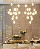 teto lâmpada sala de estar venda por atacado-Longa escada quarto lustre de estar Salão escada lustre de iluminação K9 Cristal Gota lâmpada pendurada teto alto AC110-240V lustre
