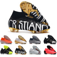 Wholesale soccer shoes sizes 39 for sale - Group buy 2019 Mercurial Superfly Elite FG KJ XII CR7 Ronaldo Neymar Soccer Shoes Mens Trainers Football Cleats Designer Shoes Size