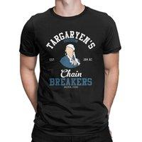 chaînes funky achat en gros de-Daenerys Targaryens T-Shirt Chaîne Breakers Funky T Shirt Hommes Tops À Manches Courtes Plus La Taille Tees Coton Col Ras Du Cou