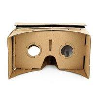 google 3d karton gözlük toptan satış-Ulter Temizle DIY Karton 3D VR Sanal Gerçeklik Gözlükleri Smartphone Için Yüksek kalite DIY Mıknatıs Google Kartonlar Gözlük