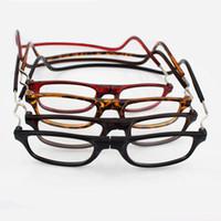 cuello de gafas al por mayor-Unisex ancianos gafas de lectura retráctil Colgando vasos del cuello para las personas mayores magnéticos plegables gafas ultra ligeros para hombres mujeres gafas