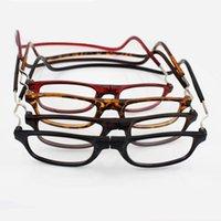 cou de lunettes achat en gros de-Unisexe âgées lunettes de lecture rétractable Hanging lunettes cou pour personnes âgées pliage magnétiques lunettes ultra légères pour hommes, femmes lunettes