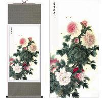 pinturas de peônias florais venda por atacado-Peônia Art Painting Pintura Chinesa Arte Home Office Decoração Pintura Chinesa Peony Art Pinturas
