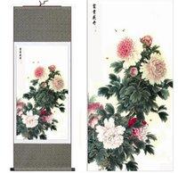 ingrosso dipinti floreali di peonies-Peonia Arte Pittura Cinese Arte Pittura Home Office Decorazione Pittura cinese Arte Peonia dipinti
