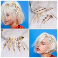 bohem saç takıları toptan satış-Yaz Moda Inci Saç Pins Vintage Bohemian Deniz Kıyısı Deniz Kabuğu Kabuklu Metal Saç Klip Kızlar Tokalarım Hairwear Trendy Takı