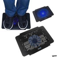 kühler für laptop großhandel-Drop ShipWholesale Laptop Kühler Cooling Pad Base Big Fan USB Ständer für 14 Zoll LED Licht Notebook APR28