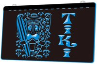 Wholesale surfing decor resale online - LS1011 b Surf Tiki Bar Mask Tree Decor Neon Light Sign jpg Decor Dropshipping colors to choose