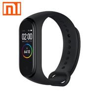xiaomi smart band оптовых-Оригинал Xiaomi Mi Band 4 Smart Heart Цветной Экран Браслет Фитнес 135 мАч Bluetooth 5.0 50 М Плавательный Водонепроницаемый