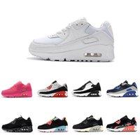 bebek korsanı toptan satış-Nike air max 90 2018 Bebek Erkek Bebek Kız Çocuk Gençlik Çocuk ayakkabı Koşu Spor Ayakkabı Korsan Siyah klasik Sneakers boyut eur 28-35