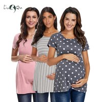 Wholesale dots maternity clothes for sale - Group buy Pack of Polka Dot Maternity Tunic Tops Women Tee Shirt Ruffles Plus Size Tees T shirt Pregnancy Tee Loose Womens Clothing